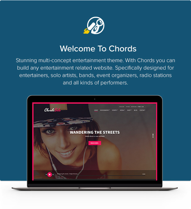 Chords - Music / Artist / Radio WordPress theme - 1