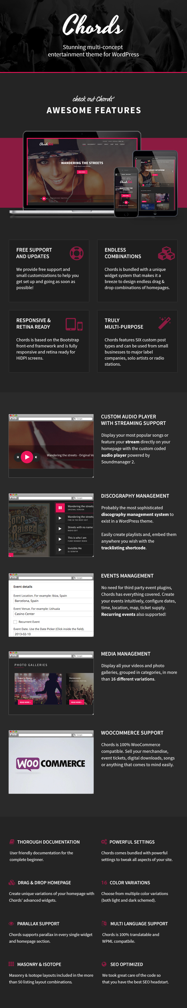 Chords - Music / Artist / Radio WordPress theme