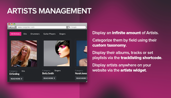 Dubstep - Premium Music WordPress Theme