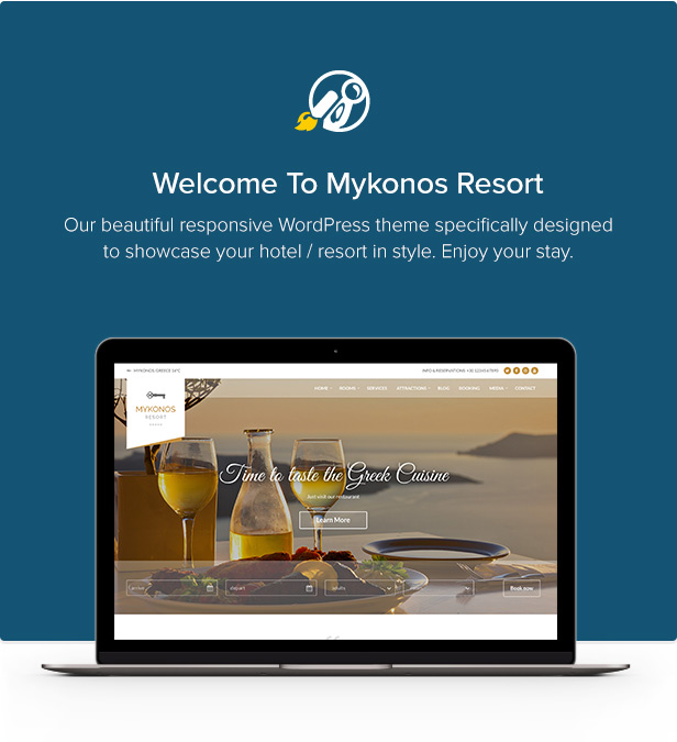 Mykonos Resort - Hotel Theme For WordPress - 1