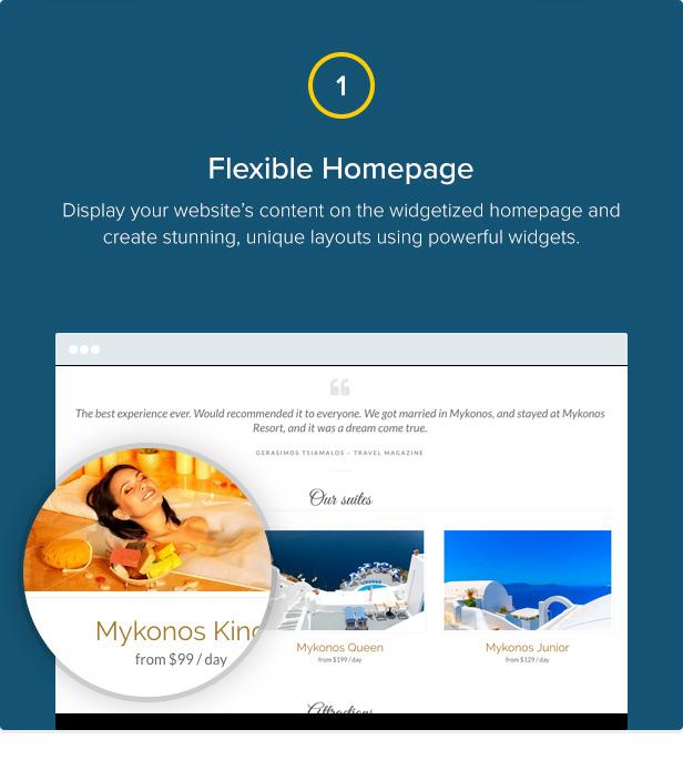 Mykonos Resort - Hotel Theme For WordPress - 2