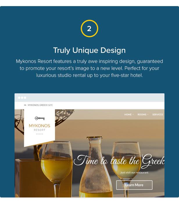 Mykonos Resort - Hotel Theme For WordPress - 3