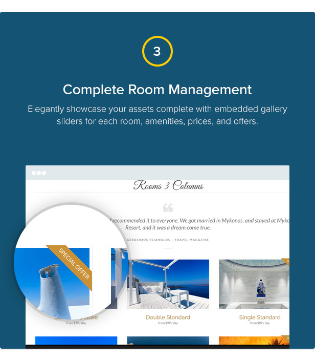 Mykonos Resort - Hotel Theme For WordPress - 4