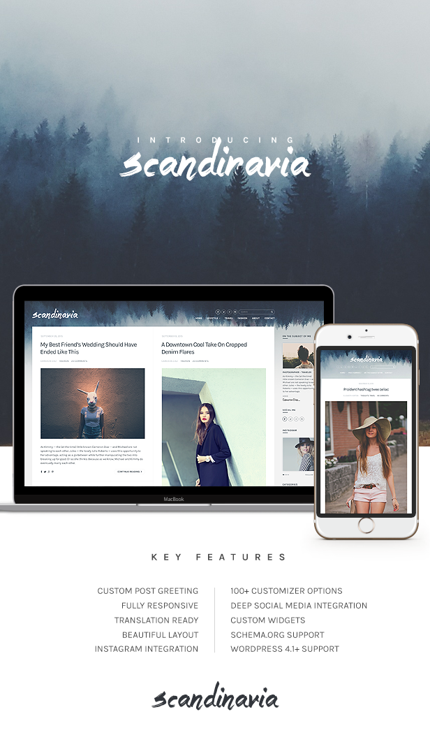 Scandinavia - Blogging Theme For WordPress
