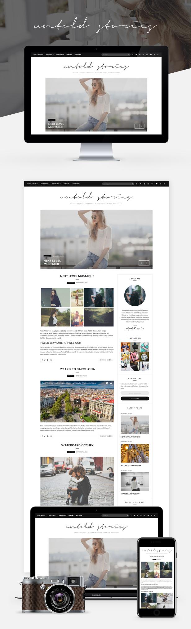 Fashion Blog Theme - Untold Stories - 2