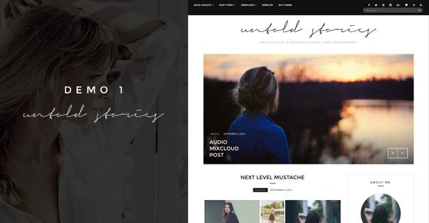 Fashion Blog Theme - Untold Stories - 3