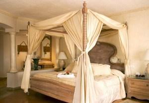 A beautiful resort hotel room.