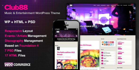 Club88 WordPress theme