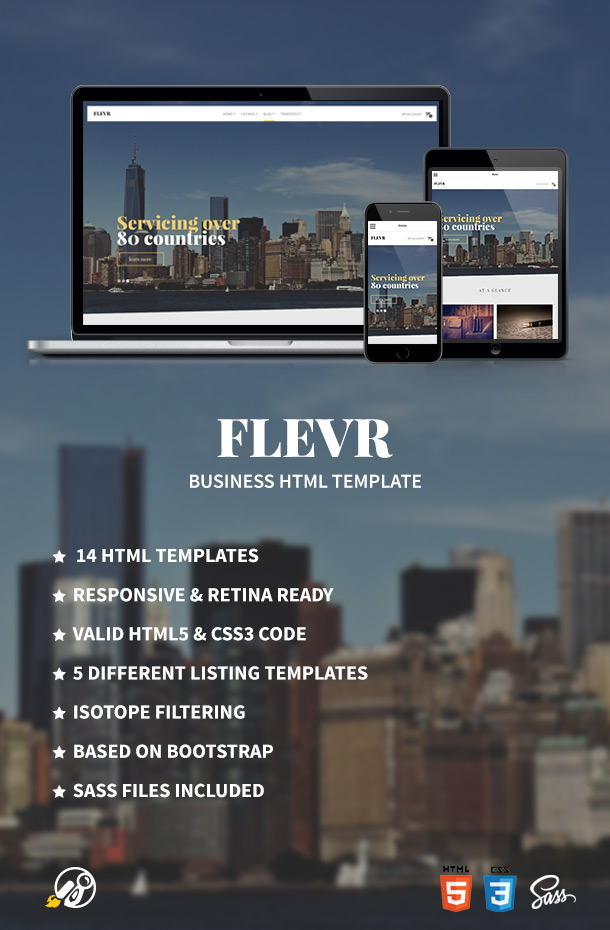 Flevr - Business Site Template