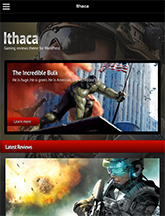 Screenshot of Gaming theme for WordPress Ithaca on Mini Tablet