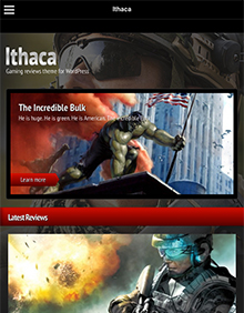 Screenshot of Gaming theme for WordPress Ithaca on Tablet
