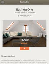 Screenshot of Business WordPress theme BusinessOne on Mini Tablet