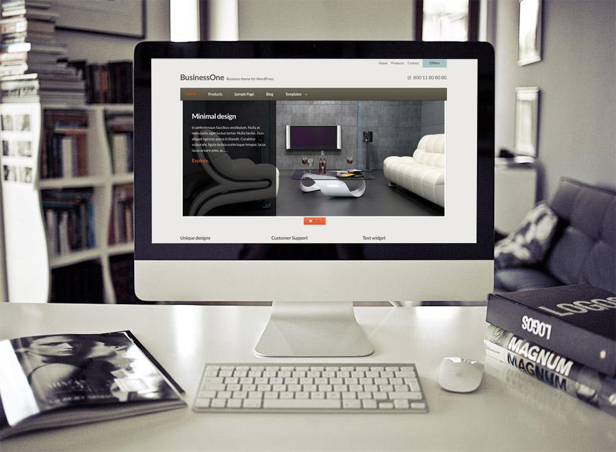 Screenshot of Business WordPress theme BusinessOne on Desktop
