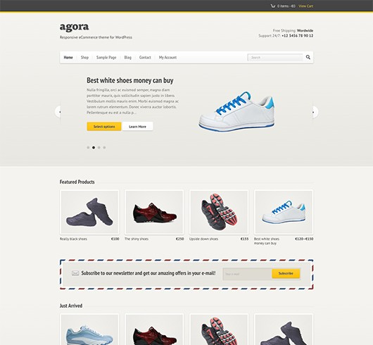 Screenshot of WooCommerce theme for WordPress Agora