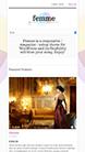 Screenshot of WooCommerce theme for WordPress Femme on Smartphone
