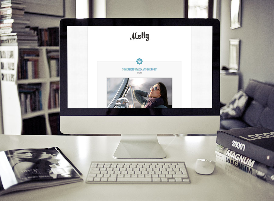 Screenshot of Blogging theme for WordPress Molly on Desktop