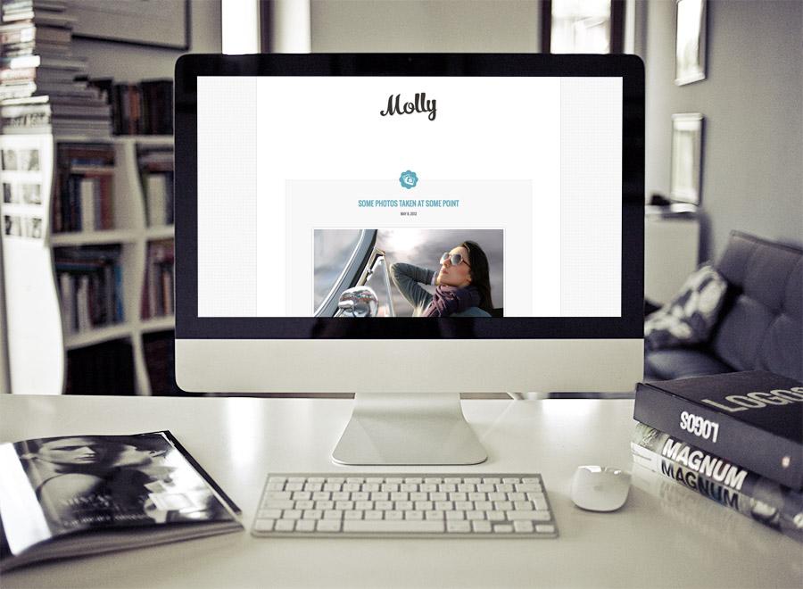 Screenshot of Blogging theme for WordPress Molly on Desktop