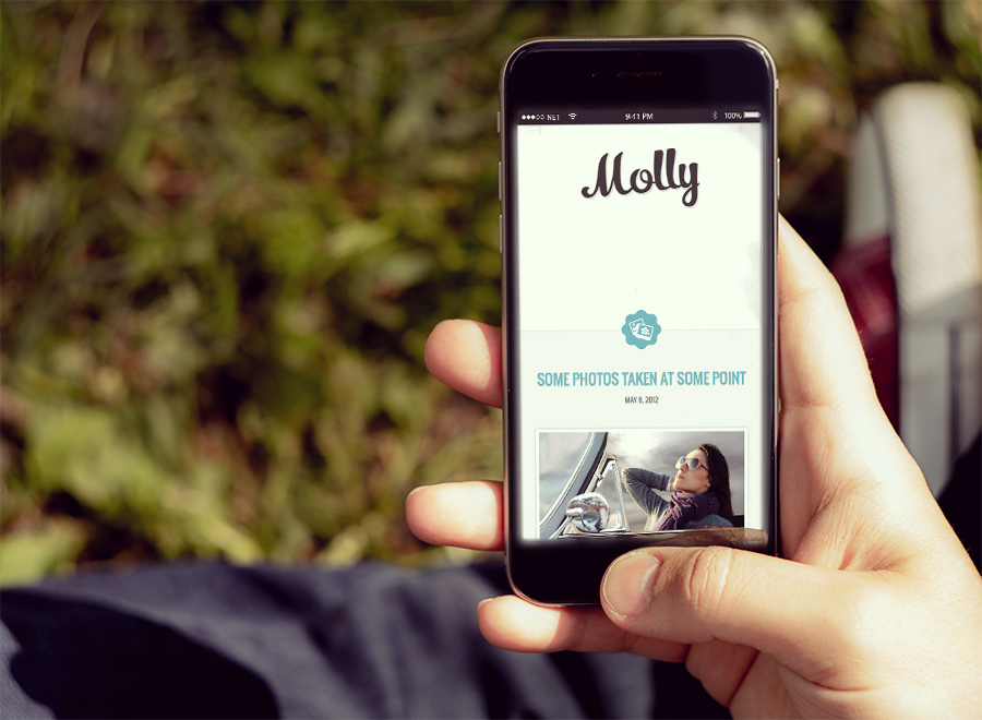 Screenshot of Blogging theme for WordPress Molly on Smartphone
