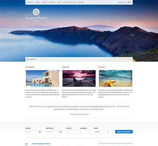 Screenshot of Hotel Theme Aegean Resort