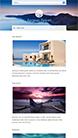 Screenshot of Hotel theme for WordPress Aegean Resort on Smartphone