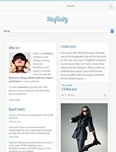 Screenshot of Pinterest-like theme for WordPress Pinfinity on Mini Tablet