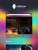 Screenshot of Review theme for WordPress IndiGamer on Mini Tablet