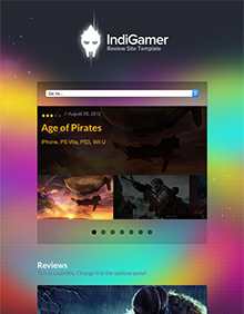 Screenshot of Review theme for WordPress IndiGamer on Tablet