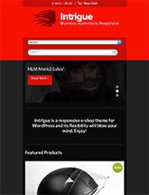 Screenshot of WooCommerce WordPress theme Intrigue on Mini Tablet