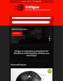 Screenshot of WooCommerce WordPress theme Intrigue on Tablet