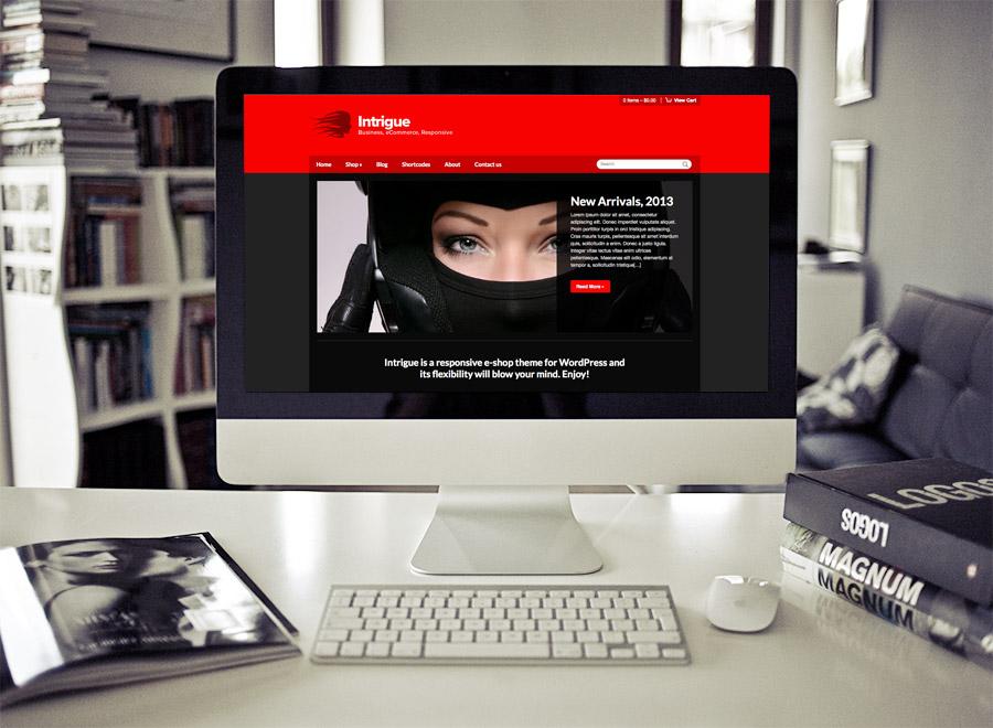 Screenshot of WooCommerce WordPress theme Intrigue on Desktop