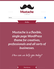 Screenshot of Business/Portfolio WordPress theme Mustache on Tablet