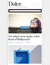Screenshot of Magazine theme for WordPress Dolce on Mini Tablet