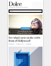 Screenshot of Magazine theme for WordPress Dolce on Tablet