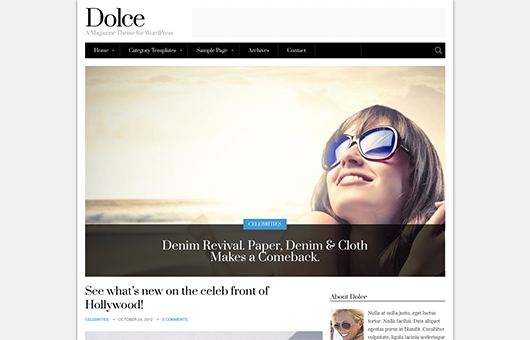 Screenshot of Magazine theme for WordPress Dolce on Laptop