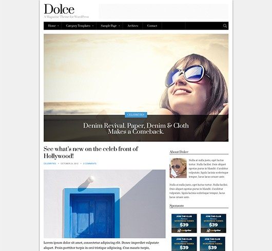 Screenshot of Magazine theme for WordPress Dolce
