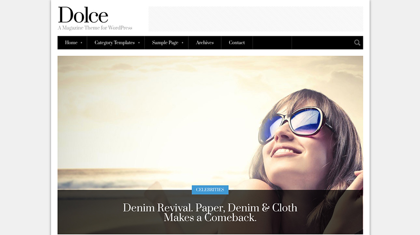 Screenshot of Magazine theme for WordPress Dolce on Desktop