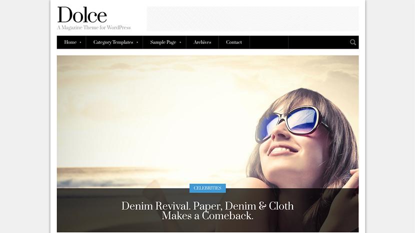 Screenshot of Magazine theme for WordPress Dolce on Desktop
