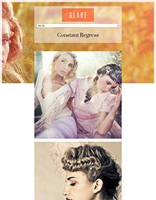 Screenshot of WordPress theme for photographers Glare on Tablet