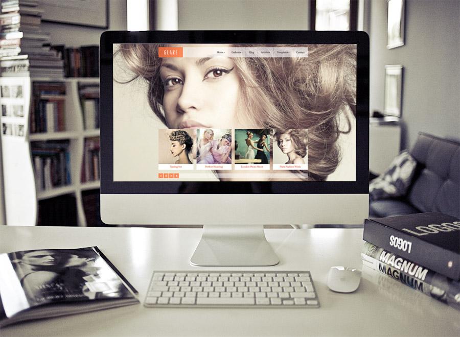 Screenshot of WordPress theme for photographers Glare on Desktop