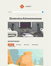 Screenshot of Portfolio/Business Theme for WordPress Mozzy on Mini Tablet
