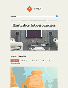 Screenshot of Portfolio/Business Theme for WordPress Mozzy on Tablet