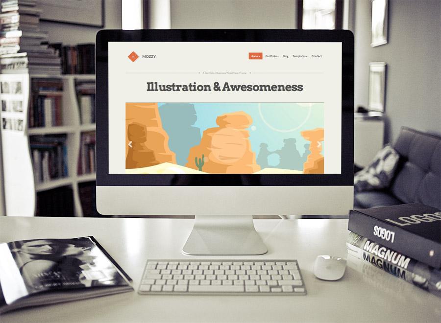 Screenshot of Portfolio/Business Theme for WordPress Mozzy on Desktop