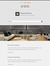 Screenshot of Business theme for WordPress BusinessTwo on Mini Tablet