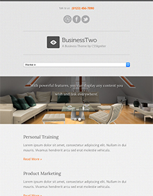 Screenshot of Business theme for WordPress BusinessTwo on Tablet