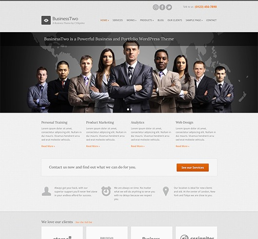 Screenshot of Business Theme BusinessTwo