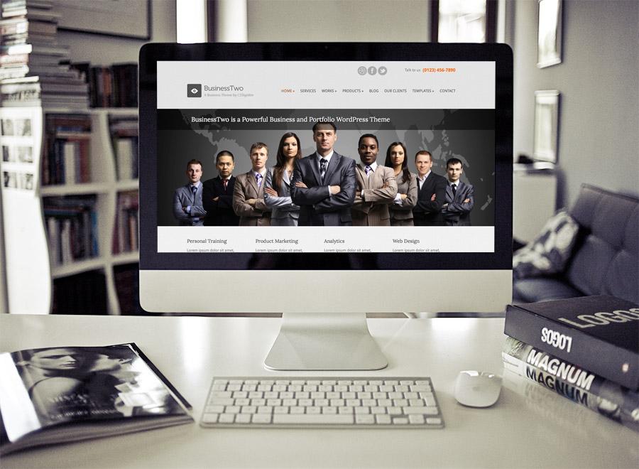Screenshot of Business theme for WordPress BusinessTwo on Desktop