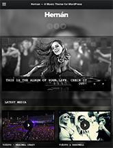 Screenshot of Music Theme for WordPress Hernan on Mini Tablet