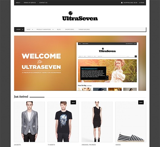Screenshot of WooCommerce theme for WordPress UltraSeven
