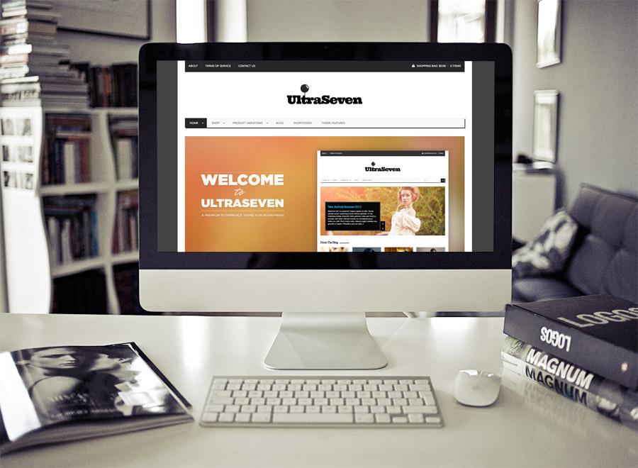 Screenshot of WooCommerce theme for WordPress UltraSeven on Desktop