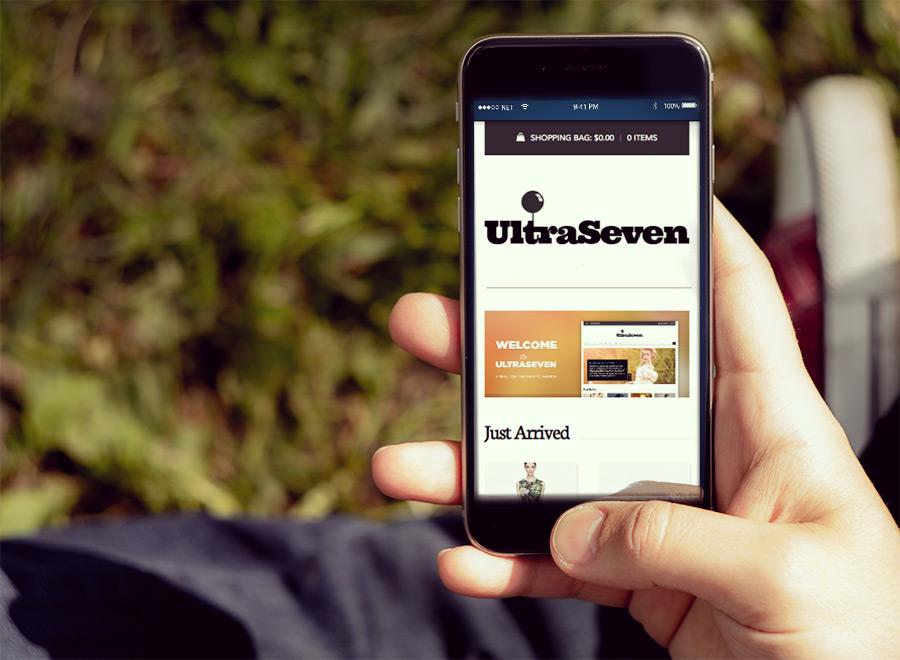 Screenshot of WooCommerce theme for WordPress UltraSeven on Smartphone